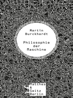 cover image of Philosophie der Maschine