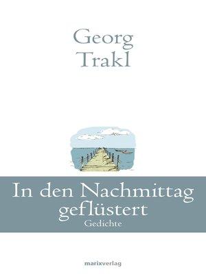 cover image of In den Nachmittag geflüstert