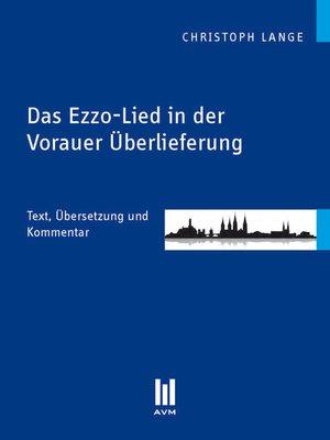 cover image of Das Ezzo-Lied in der Vorauer Überlieferung