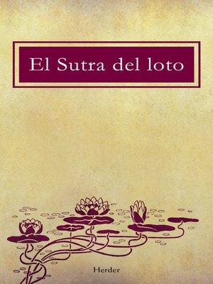 cover image of El sutra del loto