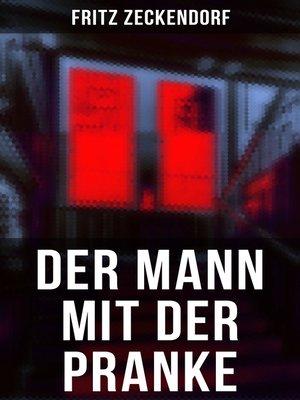 cover image of Der Mann mit der Pranke