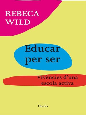 cover image of Educar per ser