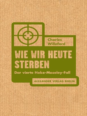 cover image of Wie wir heute sterben