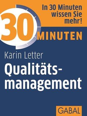cover image of 30 Minuten Qualitätsmanagement