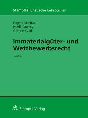 cover image of Immaterialgüter- und Wettbewerbsrecht