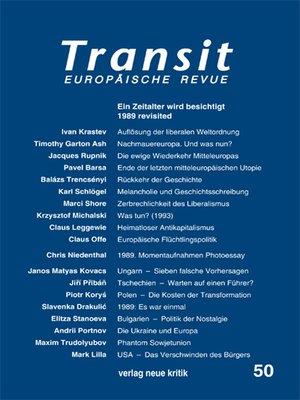 cover image of Transit 50. Europäische Revue