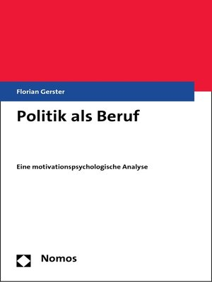 cover image of Politik als Beruf