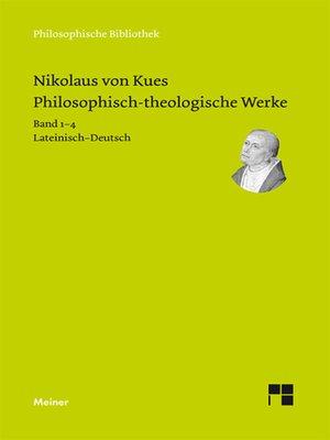 cover image of Philosophisch-theologische Werke in 4 Bänden.