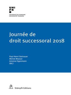 cover image of Journée de droit successoral 2018