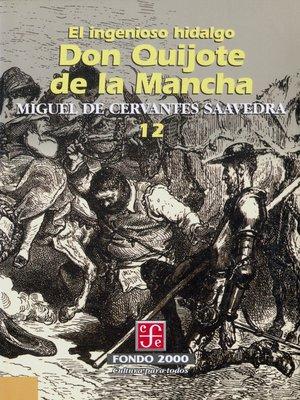 cover image of El ingenioso hidalgo don Quijote de la Mancha, 12