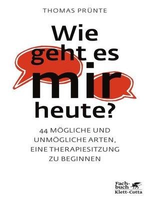 cover image of Wie geht es mir heute?