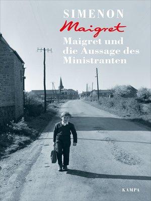 cover image of Maigret und die Aussage des Ministranten