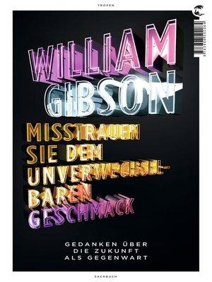 cover image of Misstrauen Sie dem unverwechselbaren Geschmack