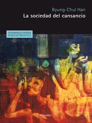 cover image of La sociedad del cansancio