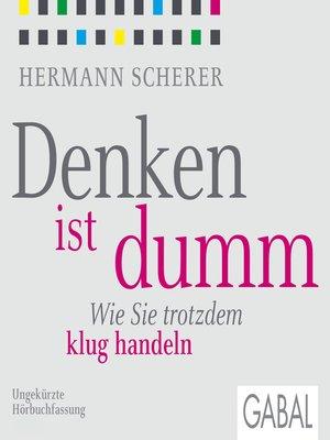 cover image of Denken ist dumm