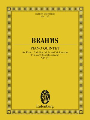 cover image of Piano Quintet F minor