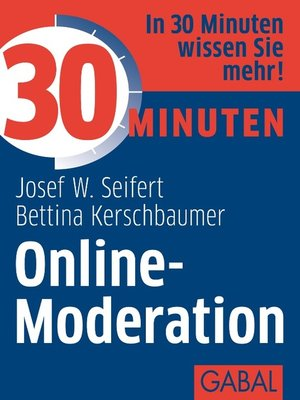 cover image of 30 Minuten Online-Moderation