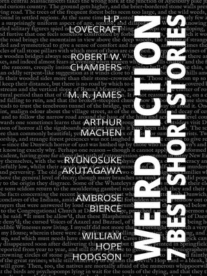 cover image of 7 best short stories--Weird Fiction
