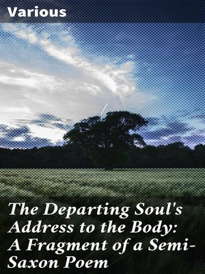 cover image of The Departing Soul's Address to the Body