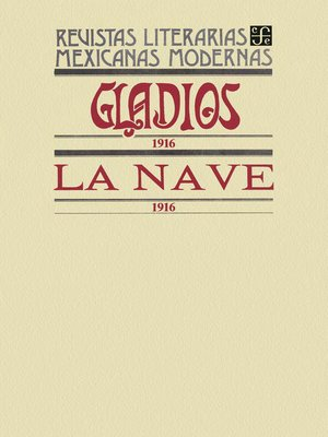 cover image of Gladios, 1916. La Nave, 1916