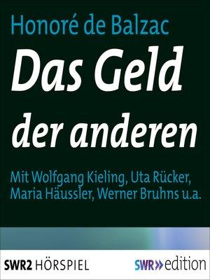 cover image of Das Geld der anderen