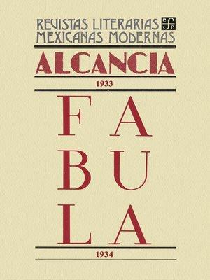 cover image of Alcancía, 1933. Fábula, 1934