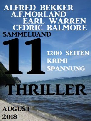 cover image of Sammelband 11 Thriller August 2018