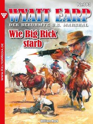 cover image of Wyatt Earp 193 – Western