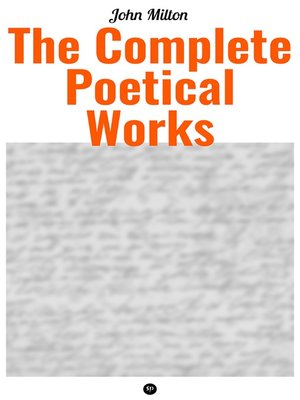 cover image of The Complete Poetical Works of John Milton