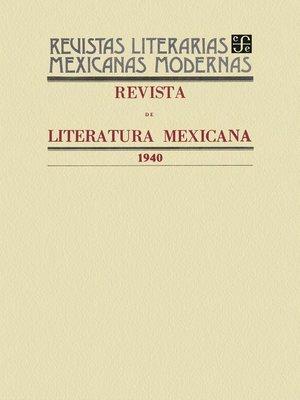 cover image of Revista de literatura mexicana, 1940