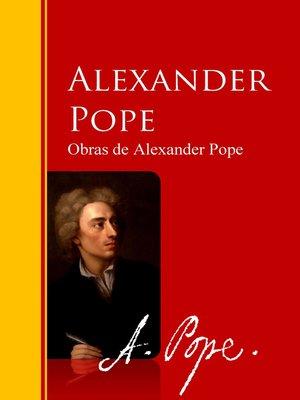 cover image of Obras de Alexander Pope