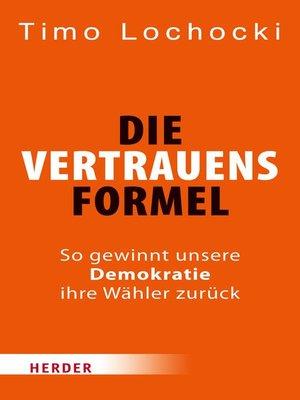 cover image of Die Vertrauensformel