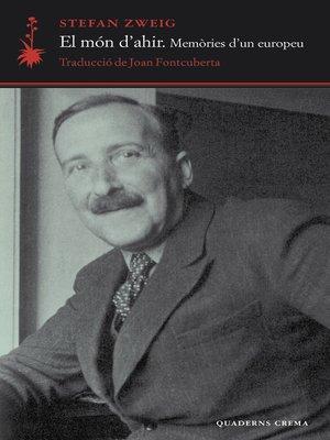 cover image of El món d'ahir