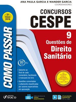 cover image of direito sanitário: 9 questões de direito sanitário