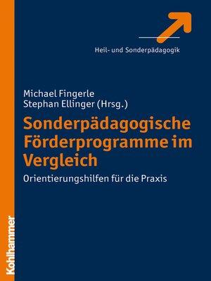 cover image of Sonderpädagogische Förderprogramme im Vergleich