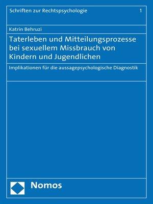 cover image of Taterleben und Mitteilungsprozesse bei sexuellem Missbrauch von Kindern und Jugendlichen