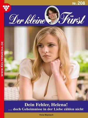 cover image of Der kleine Fürst 208 – Adelsroman