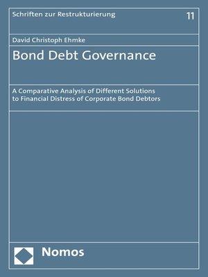 cover image of Bond Debt Governance