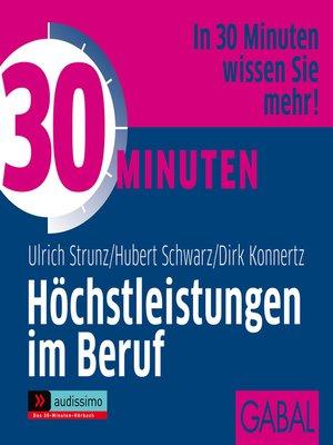 cover image of 30 Minuten Höchstleistungen im Beruf
