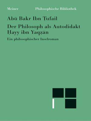 cover image of Der Philosoph als Autodidakt