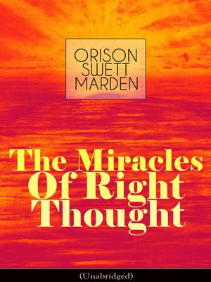 cover image of The Miracles of Right Thought (Unabridged)