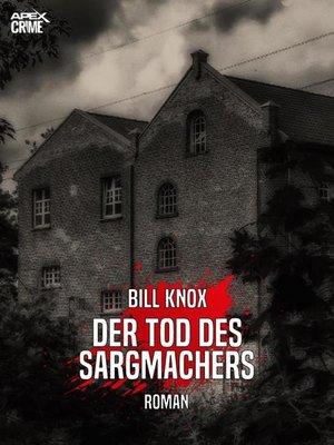 cover image of DER TOD DES SARGMACHERS