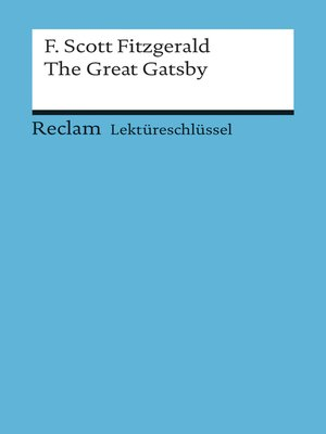 cover image of Lektüreschlüssel. F. Scott Fitzgerald