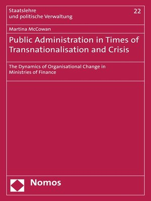 cover image of Public Administration in Times of Transnationalisation and Crisis