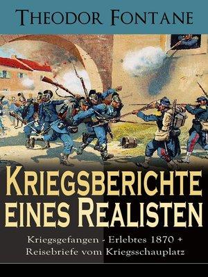 cover image of Kriegsberichte eines Realisten