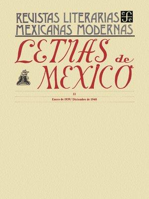 cover image of Letras de México II, enero de 1939-diciembre de 1940