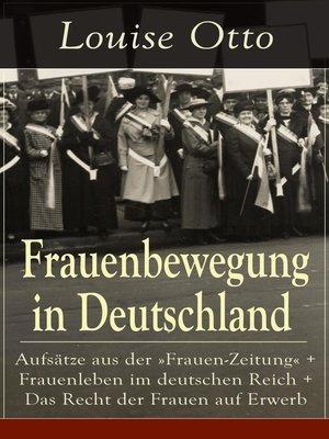 cover image of Frauenbewegung in Deutschland