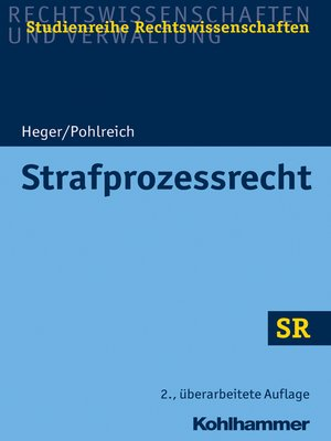 cover image of Strafprozessrecht