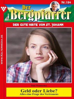 cover image of Der Bergpfarrer 184 – Heimatroman