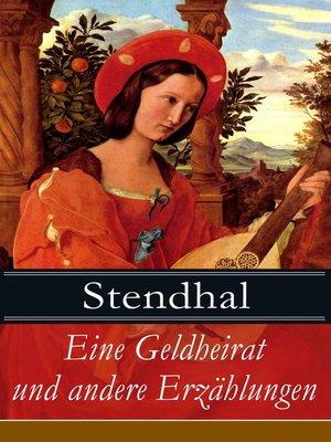 cover image of Eine Geldheirat und andere Erzählungen